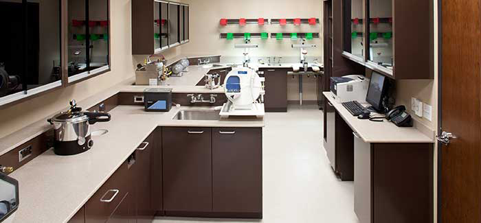 dental lab work area