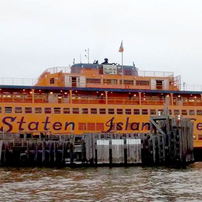 Staten Island Ferry at the pier