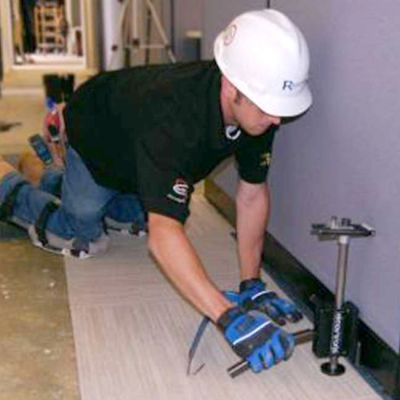 flooring installation worker
