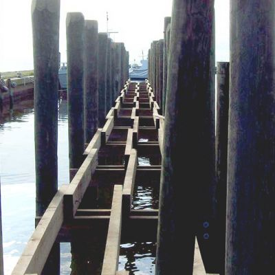 view of pilings and support beams